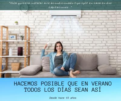 Instalación split aire acondicionado